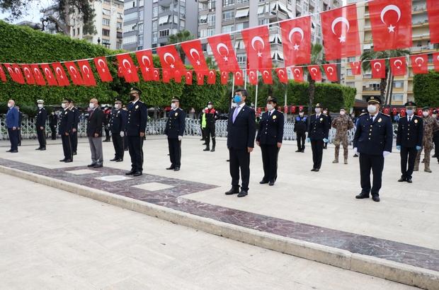 Sosyal mesafeli Polis Haftası kutlaması Polisler şehit meslektaşlarını unutmadı