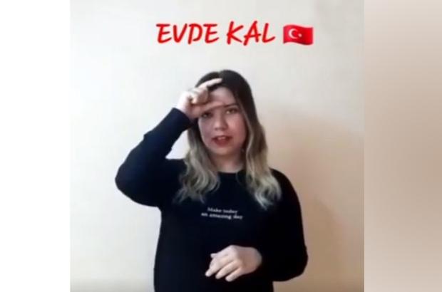 PAÜ öğrencileri İşaret diliyle 'Evde Kal' dedi