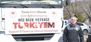 """İl Tarım ve Orman Müdürü Şahin, """"Kayseri'de ekilmedik yer bırakmayacağız"""""""