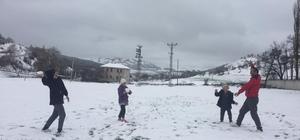 Tokat'ta Nisan ayın kar sürprizi
