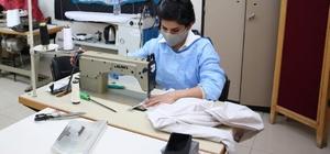 Tunceli'de sağlık çalışanları için tulum üretimi