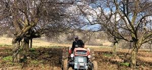 Muhtar, yaş sınırına takılan köylüsünün tarlasını sürdü, ekimini yaptı