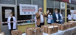 Posbıyık'tan 93 köye 50 bin maske desteği