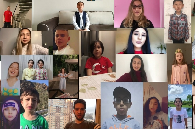 Binlerce kilometre ötede 23 Nisanı unutmadılar Türkiye'ye gelemeyen 28 farklı ülkeden 44 çocuk, videolarla Türkiye'deki çocukların 23 Nisan Ulusal Egemenlik ve Çocuk Bayramını kutladı