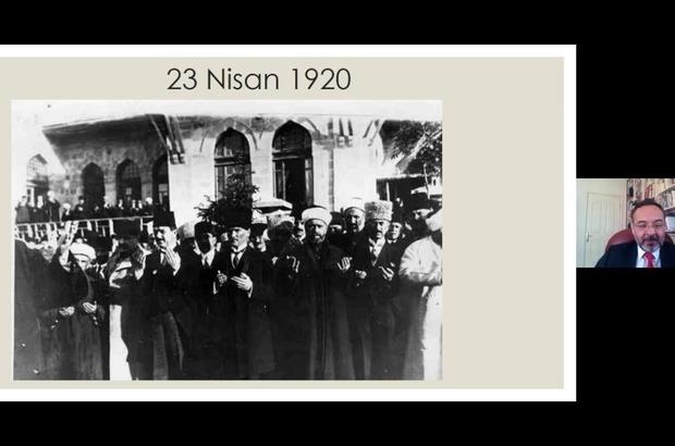 """EÜ'de 23 Nisan'a özel konferans Prof. Dr. Mert: """"23 Nisan, Türkiye Cumhuriyeti'nin doğum günüdür"""""""