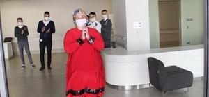 Yozgat'ta korona virüsü yenen hasta alkışlarla taburcu oldu