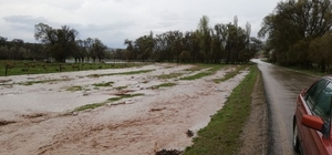 Kırıkkale'de ekili tarım alanları sular altında kaldı