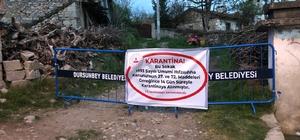 Vakaların arttığı Dursunbey'de sokak karantinası tedbiri Başkan Bahçavan Dursunbeylileri Uyardı