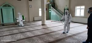 Tuzluca'da camiler dezenfekte edildi