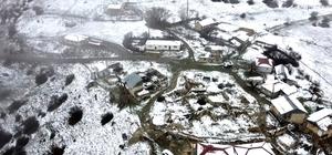 Erzincan ve Bayburt'un yüksek kesimlerinde kar yağışı