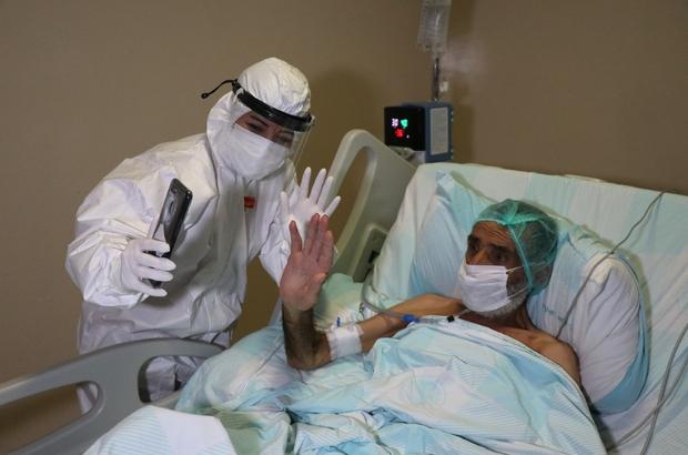 Korona virüs hastaları yoğun bakımdan aileleriyle görüntülü görüşüyor yoğun  bakımdaki hastaları tedavi eden sağlık çalışanları fedakarca çalışıyor  sağlık çalışanları ailelerinden uzak kalırken, korona virüs tedavisi gören  hastaların moralini yüksek ...