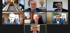 Giresun'un ulaşım yatırımları için video konferans yöntemiyle toplantı yapıldı