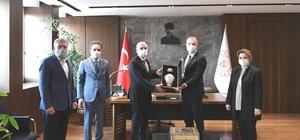 Başkan Ceyhun ve milletvekillerinden bakanlara ziyaret