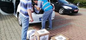 Kurucaşile'de miniklerden Ramazan kolisi