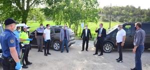 Başkan Ceyhun, Hisarcık'ta Korona virüs önlemlerini yerinde inceledi