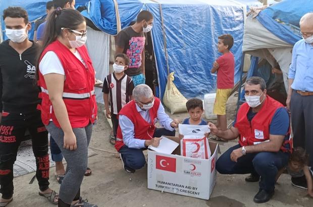 Kızılay'dan tarım işçilerine gıda yardımı - Adana Haberleri