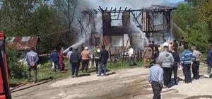 Bayram sabahında yangın evlerini küle çevirdi