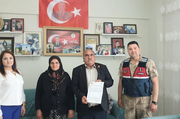 Şehit ailesinden Jandarma Karakoluna teşekkür ziyareti