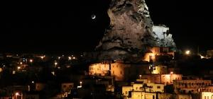 Kapadokya Bölgesinin gece görüntüsü hayran bıraktı Kapadokya'dan muhteşem gece görüntüleri