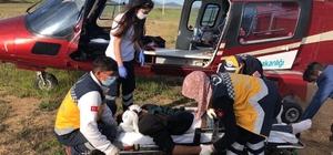 Yaylada rahatsızlanan çoban ambulans helikopterle hastaneye kaldırıldı Kahramanmaraş'ta hayvanlarını otlatırken göğüs ağrısı oluşan çobanın yardımına, ambulans helikopter yetişti