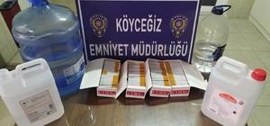 Sahte alkol üretilip satılan adrese polis baskını