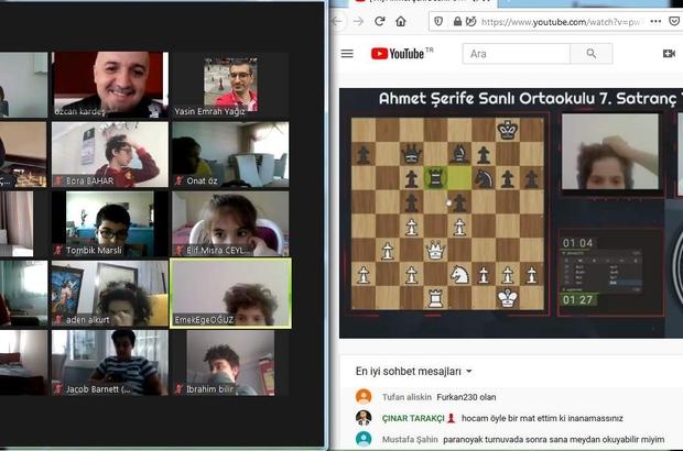 Geleneksel satranç turnuvası online olarak yapıldı