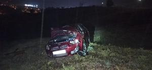 Otomobil şarampole devrildi; 1 yaralı