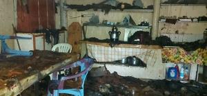 Rize'de şantiye yangını