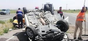 Nevşehir'de otomobil takla attı: 5 yaralı