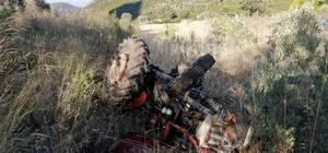 Seydikemer'de traktör devrildi: 1 ölü, 1 yaralı