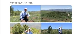70'lik delikanlıya bakandan teşekkür ve dua Tarım ve Orman Bakanı Dr. Bekir Pakdemirli sosyal medya hesabı üzerinden, Sivas'ın Akıncılar ilçesinde 14 yılda 8 bin 500 ağaç diken 70 yaşındaki Selim Petek'e hem teşekkür hem de dua etti