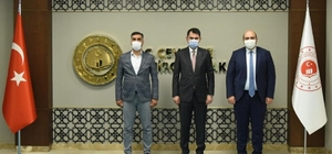 """Bakan Kurum'dan tam destek Başkan Orhan; """"Aziziye dönüşümleri devam edecek"""""""