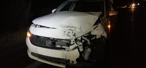 Yaralanan bekçinin yakını hastaneye giderken kaza yaptı: 1 ölü Otomobil ile motosiklet çarpıştı: 1 ölü