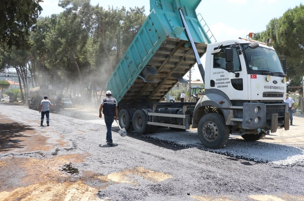 Manisa'da 2020 yılı satih kaplama asfalt sezonu başladı
