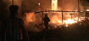 Seydikemer'de 2 katlı ahşap evde yangın çıktı