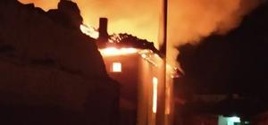 Çavdarhisar'da yanan ev küle döndü