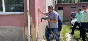 Altıntaş'ta Hükümet Konağı'na deprem testi