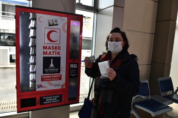 Maskematiklerden İzmirliye 6 milyon maske Yeni uygulama ile birlikte beşli paketler bir biniş ücreti karşılığında alınabilecek