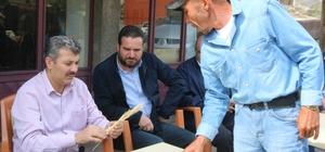 Başkan Altınsoy tarım arazisi zarar gören çiftçiler ile görüştü