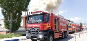 Sporcuların kaldığı sosyal tesiste feci yangın