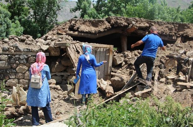 Bingöl'de depremin ardından hasar tespit çalışmaları