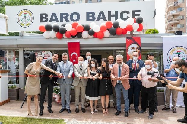 """Baro Bahçe açıldı Başkan Soyer, Baro Bahçe'nin açılışında konuştu: """"Savunma güçlüyse adalet terazisi doğru işler"""""""