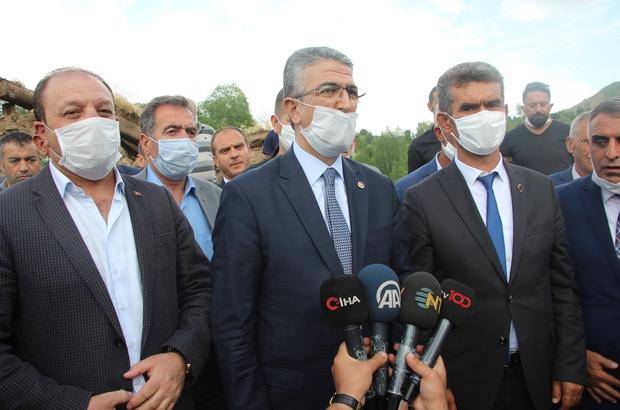 MHP'li Aydın ve beraberindeki heyet deprem bölgesinde