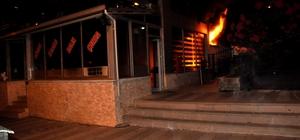 Konya'da restoran kundaklandı, yangını itfaiye söndürdü