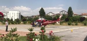Kalp yetmezliği olan hasta, ambulans helikopterle Kayseri'ye getirildi
