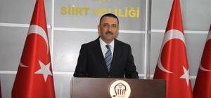 """Siirt Valisi  Osman Hacıbekteşoğlu göreve başladı Vali Hacıbektaşoğlu: """"Evlatlarımızı dağa çıkaramayacaklar"""""""