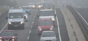 Tekirdağ sisli bir güne uyandı Çorlu ve Ergene'de sis etkili oldu