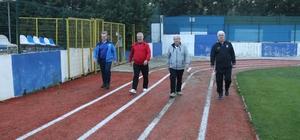 Başkanlar sabah sporunda buluştu