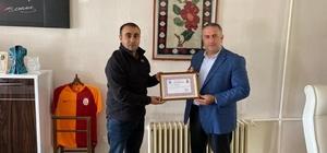 Şenkaya Belediyesine teşekkür belgesi