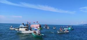 Ardeşen'de 'Deniz Kafesli Balık Çiftliği Projesi' protestosu